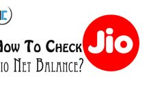 how to check jio net balance