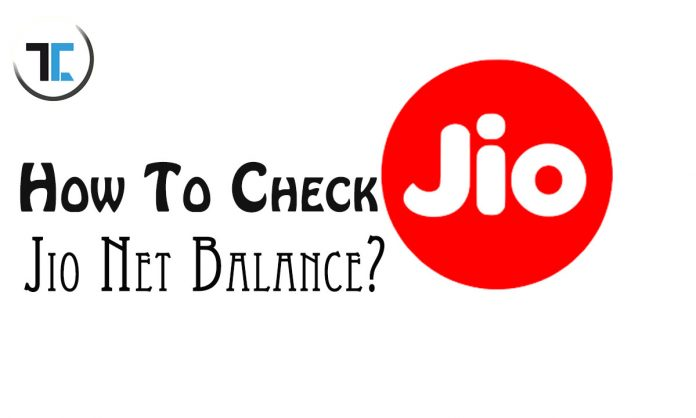 how to check jio net balance